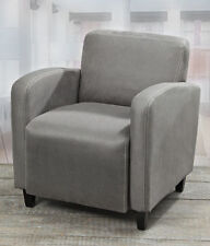 Chaises gris en cuir pour le bureau