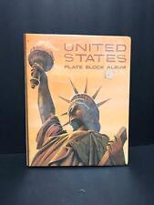 HARRIS UNITED STATES PLATEBLOCK ALBUM - USED AND NO STAMPS 1932-1972