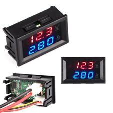 Panel Dual Voltimetro Amperimetro Digital BCD 100v10A Rojo Azul voltmeter Cables