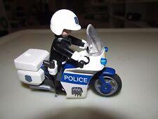 Vintage Playmobil Police Motorcycle Set