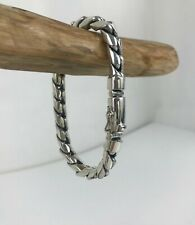 Sterling Silver Mens Rounded Curb Bracelet | 3 lengths | Gifts for him