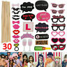 HEN PARTY 30pcs Full Set Selfie Photo Props Booth Night Games Wedding Accessorie