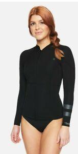 Hurley Adv Plus 1/1 MM Wetsuit Surf Jacket Black Women's Sz XL NEW CJ7056-010