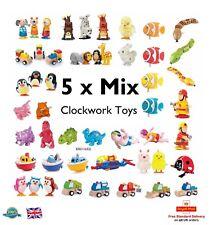 5 Mix CLOCKWORK TOYS Animal Car Gift Party Bag Filler Kids Pocket Money Wind Toy