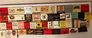 Lot of 50 Vintage Restaurants Matchbooks/Matchboxes UNSTRUCK FULL