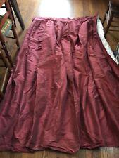 Restoration Hardware Pleated Silk Striped Drape (1) Christmas Reds