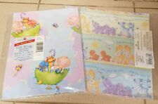 Lot 2 Vintage Baby Shower Wrapping Paper Hallmark American Umbrella Jungle gift