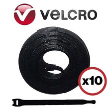 8 Inch Velcro Cable Wrap Ties Lot Of 10 Wire Wraps New US Seller Free Shipping!