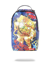 AUTHENTIC SPRAYGROUND GOLD ASTRONAUT ON THE RUN BACKPACK