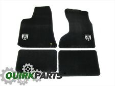 05-10 DODGE CHARGER AWD DARK GREY CARPET FLOOR MATS WITH LOGO GENUINE MOPAR OEM
