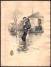 Programme. Carrousel Militaire. Grand Palais. 1910. Georges Scott. Inondations