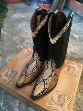 Stivali Cowboy Pitone Western Pyton Boots Mexicana Genuine Leather USA Rodeo