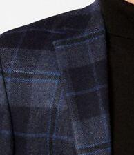 Lauren Ralph Lauren Blazer Size 42R Men Wool Suit Jacket Blue Brown Windowpane