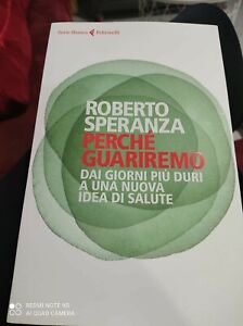 """Roberto Speranza - libro raro """"Perché guariremo"""""""