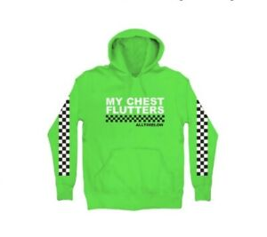All Time Low Green Checkered Birthday Hoodie Size Medium