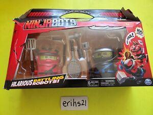 NinjaBots Hilarious Battling Robots w/6 Weapons  2-Bots 100+ sounds & moves NEW