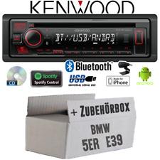 Kenwood Autoradio für BMW 5er E39 Bluetooth Spotify CD/MP3/USB Einbauzubehör KFZ
