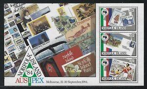 1984 Norfolk Island Scott #346a (SG #346) - AUSIPEX '84 Souvenir Sheet - MNH