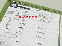 TOYOTA Coaster Diesel 1999 Inspektionsblatt Einstelldaten WERKSTATT HANDBUCH