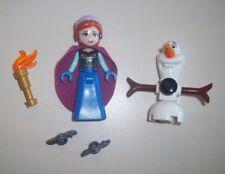 Lego Minifigure Friends Disney Princess ~ Anna With Cape & Ice Skates and Olaf