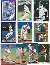 Lot of 50 Different Greg Maddux Cards; 1989-1995; NM-Mint; Chicago Cubs