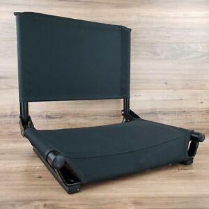 "Cascade Mountain Tech Folding Stadium 17"" Seat for Benches, Light Weight, Black"