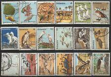 BOTSWANA 1982  BIRDS DEFINITIVE SET COMPLETE USED SET 0875