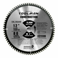 """12"""" x1"""" 80T Carbide Tip Table Miter Cutting Circular Saw Blade For Wood"""