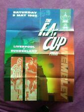 More details for 1992 fa cup final large poster liverpool v sunderland freepost