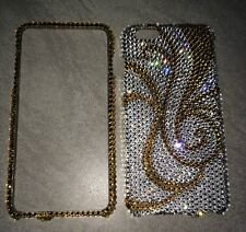 Crystal Gold Bling Case Cover For IPHONE 7 / 8  PLUS Made W/ SWAROVSKI Elements