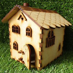 Wood Fairy Elf Door Craft Garden Decor Dollhouse Three-dimensional Assembly KAU