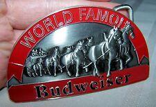 Enamel Belt Buckle Franklin Mint Limited Budweiser Clydesdale Horses Pewter