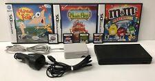 Nintendo DSi TWL-001 Black Handheld System Lot Bundle w/ 7 Games & Car Adapter