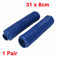 Pair Front Fork Cover Shock Absorber Dust Rubber Cover Blue for Motorbike