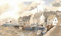 WEYMOUTH HARBOUR Watercolour Painting DAVID THOMAS - CONTEMPORARY ART