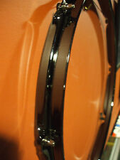 """14"""" BLACK NICKEL DRUM HEAD DISPLAY FRAME FOR YOUR AUTOGRAPHED DRUM HEAD - NEW !!"""