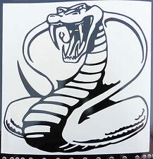 King Cobra Serpents Animaux Nature Autocollants/Voiture/Van/Pare-chocs/Fenêtre/Autocollant 5242 Noir