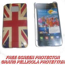 Pellicola+custodia BACK cover UK FLAG VINTAGE per Samsung I9100 Galaxy S2 I9105
