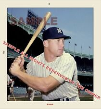 MICKEY MANTLE PHOTO SNAPSHOT 1960 5 BY 6 ENLARGEMENT ONLY 3 AVAIL