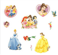 Disney Princess Wall Stickers Girls Room Art Decor Mural Decal Paper Baby Kids