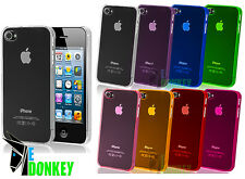 CUSTODIA CASE COVER PROTECTOR PER APPLE IPHONE 4 4S SLIM TRASPARENTE