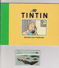 Tintin. Quatrième carte Belgacom 1996. Carte téléphonique n°4. Oreille Cassée