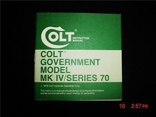 Colt Government Model Mk/Series 70 Manual