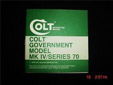 Colt Government Model MK/Series 70 Manual