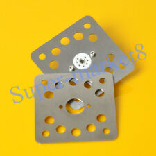 20pcs Mini 7pin Ventilated Steel Mounting Plate Tube Socket Shock Proof
