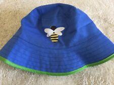 07b1e634d2a NEW Boys Blue Green Trim Yellow Bumble Bee Bucket Sun Pool Hat Kids One Size
