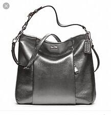 Coach madison metallic leather silver bag