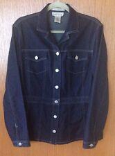 Evan Picone Stretch Jean Shirt/Jacket Size Large EUC