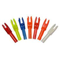 50pcs Archery Arrow Nocks ID 4.2mm Carbon Shaft Compound Recurve Bow Multicolor