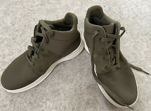 Ladies Fitflop UK 4 Ankle Boots Shoes Chukka Desert Green VGC Hardly Worn